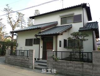磐田市上万能で築25年の中古住宅リフォーム - 外壁&耐震補強