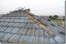 浜松市南区で台風被害を受けたモニエル瓦を葺き替えリフォーム