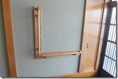 真壁造りの玄関に手すりの取り付けリフォーム