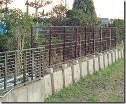 浜松市南区で境界フェンスの交換リフォーム