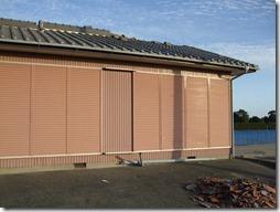 台風15号の被害を受けた集会所の外装修復リフォーム